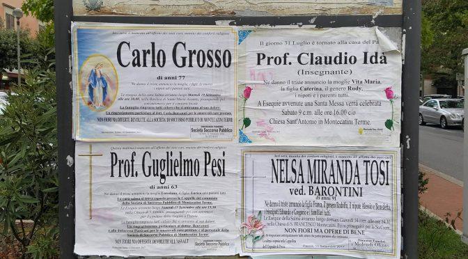Syditaliensk hverdagsliv: når dødsannoncerne hænger på gadehjørnet
