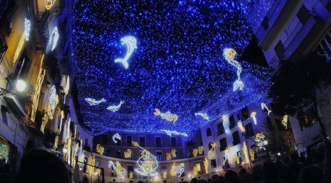 Salernos lysshow er blevet en af Syditaliens mest besøgte juleattraktioner