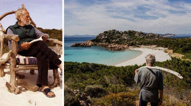 Sardiniens Robinson Crusoe vil leve og dø på sin lyserøde ø